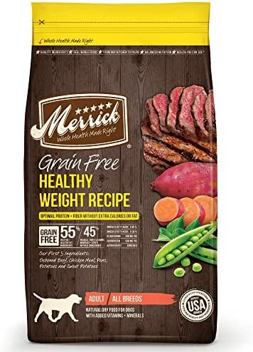 Dog Food: Merrick Grain Free Healthy Weight Recipe
