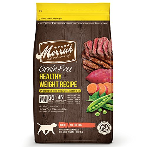 Merrick Grain Free Healthy Weight Recipe Dry Dog Food, 25 Lbs.