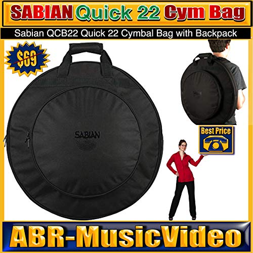 Sabian QCB22 Quick 22 Cymbal Bag with Backpack Straps