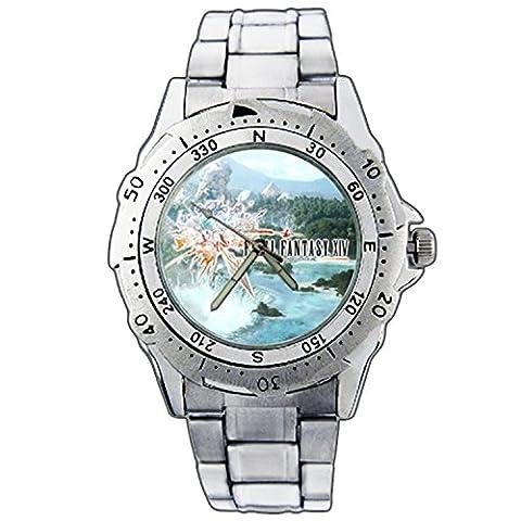Men's Wristwatches PE01-1543 Final Fantasy XIV FF 14 Online Stainless Steel Wrist Watch (Fantasy Wrist Watch)