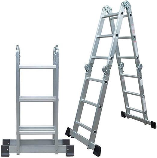 DY Escalera Plegable Escalera Recta Escalera de Aluminio ...