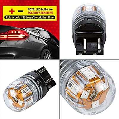 2pc // Red 1 Pack Pilot Automotive IL-7443-15RBK Flashing Brake Light Bulb