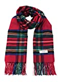 Red X Green 100% Cashmere Plaid Shawl Stole Women's 2017 Gift Scarves Wrap Blanket B0714B2-7