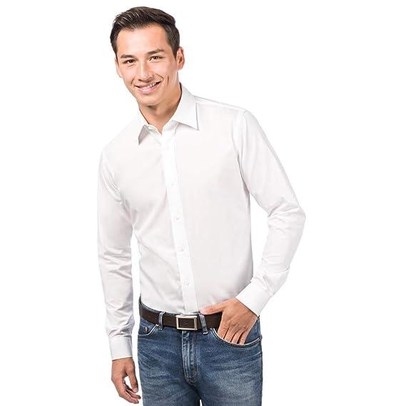 ALLBOW Camisa Blanca para Hombre Formal Slim Fit, 100 ...