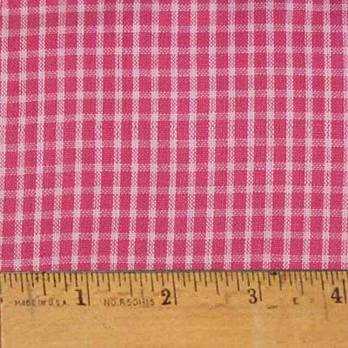 Strawberry Pink Plaid Cotton Homespun Plaid Fabric by JCS - Sold by The Yard