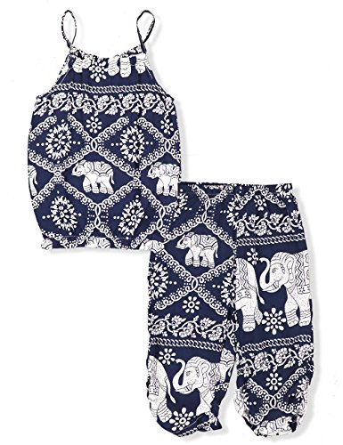 Cute Kid Clothing Stores (Toddler Girls Clothes Romper Jumpsuit, Elephant Straps Tops+Harem Pants 2Pcs Outfit Set(5 Years))