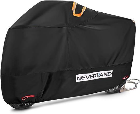 Neverland Xl Motorradplane Motorrad Abdeckplane Outdoor 210d Oxford Stoff Motorradgarage Abdeckplane Roller Cover 2000pa Winterfest Wasserdicht 245 105 125cm Auto