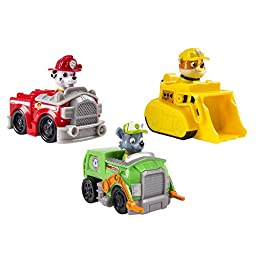 Paw Patrol - Rescue Racers 3pk Vehicle Set Marshal Rubble, Rocky