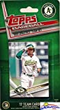 Oakland A's 2017 Topps Baseball EXCLUSIVE Special Limited Edition 17 Card Complete Team Set with Khris Davis, Sonny Gray, Josh Reddick & More Stars & Rookies! Shipped in Bubble Mailer! WOWZZER!