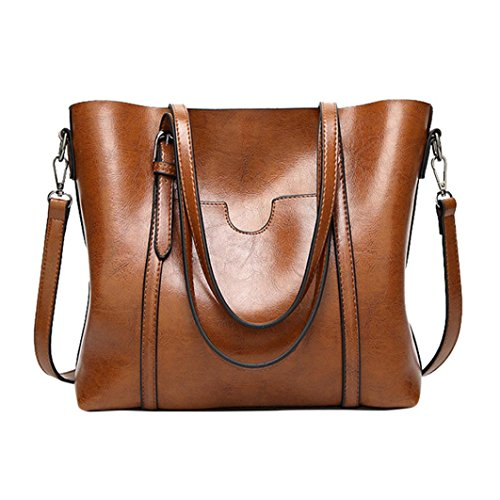 2 Bag Bag Women Crossbody Bag Tote LILYYONG Brown Bag Bucket Shoulder Handbag aqRf7Tn