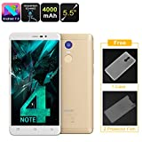 Generic Uhans Note 4 Android Smartphone - 5. 5-Inch, Quad-Core CPU, 3GB RAM, Android 7. 0, Dual-IMEI, 4G, 13MP Camera, 4000mAh (Gold)
