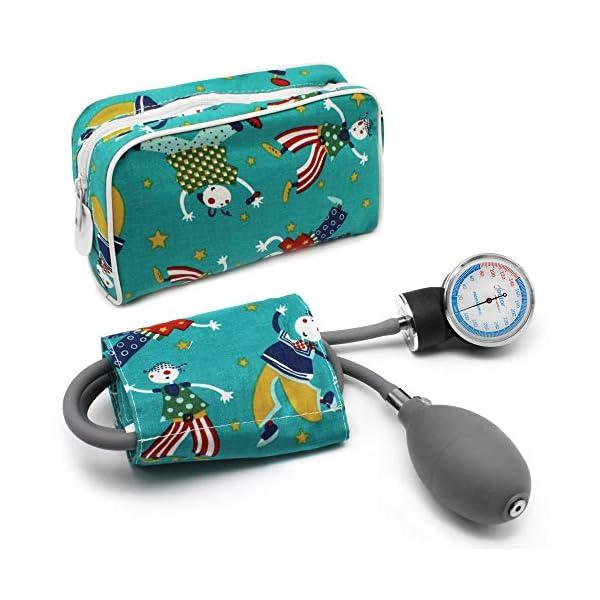 AIESI Esfigmomanometro Tensiómetro Manual Pediatrico Profesional Aneroide clásico con brazalete de colores para ninos DOCTOR PRECISION CHILD ✔ Medidor de presión sanguinea mecánico ✔ Garantía 24 meses 1
