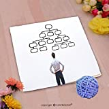 VROSELV Custom Cotton Microfiber Ultra Soft Hand Towel-mindmap concept business man looking at the scheme of hierarchy management of organization Custom pattern of household products(20''x20'')