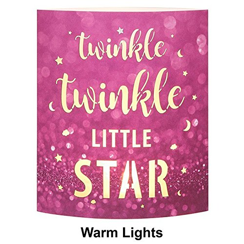 Baby Girl Gift - Twinkle Twinkle Little Star Light Up Mantel Plaque Joe Davies