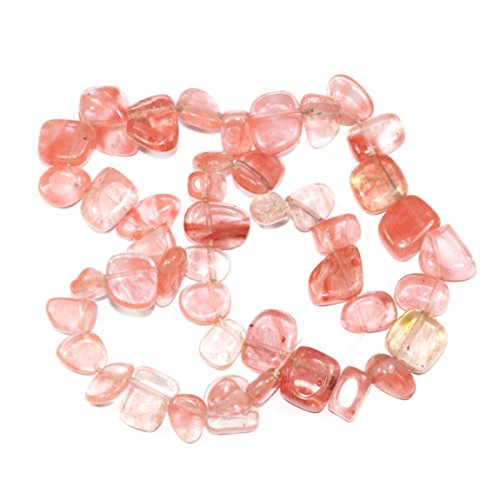 (Top Quality Natural Cherry Quartz Gemstones Smooth Teardrop Loose Beads Free-form ~18x10mm beads (~16
