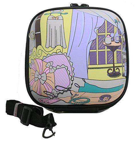 Woodmin Fujifilm Instax Mini Camera Case For Instax Mini 7s, Mini 25, Mini 50s (KT Hamburger Bag) ---Purple