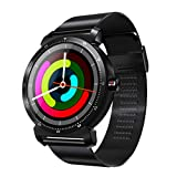 Sandistore K88H Plus Smart Watch for Android/iOS Phones,IPS 1.3inch Round Screen Bluetooth Smartwatch,Metal case,IP67 Water Proof,Several Sports Mode, Blood Pressure, Anti-Lost Function (Black)