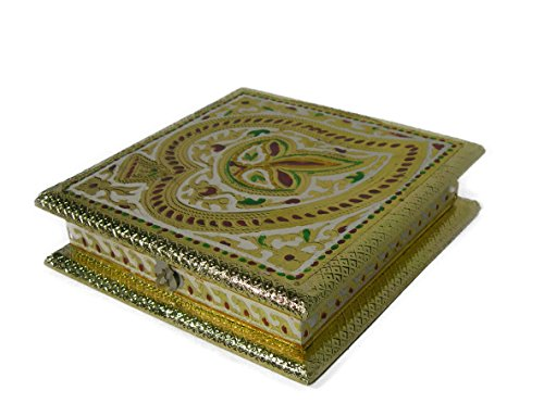 Maitri Creations Dry Fruit Box, Serving Tray, Decorative Platter, Beautiful Snack Box with Unique Meenakari Design from