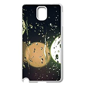 Samsung Galaxy Note 3 Case, Blurred Lights Outside the Window Cute Design Case for Samsung Galaxy Note 3 {White}