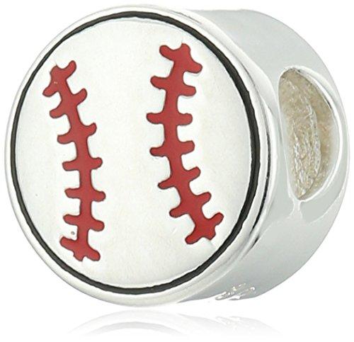 Chamilia Baseball Mom Bead (Pugster Baseball)