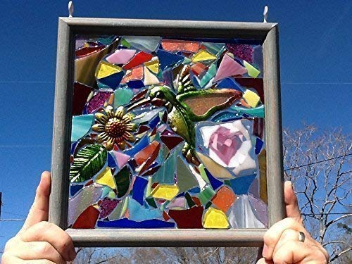 Hummingbird Stained Glass Window Art Sun Catcher