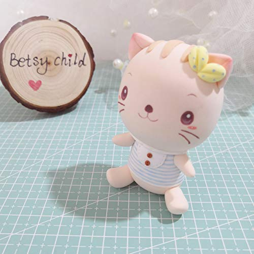 Wedding clay miniature, Cat wedding topper, clay ring holder, animal wedding topper clay figurine by Betsy Child