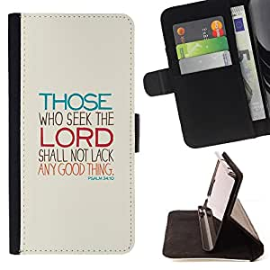 For Samsung Galaxy S6 Lord Seek Motivational Religious Meaning Leather Foilo Wallet Cover Case with Magnetic Closure