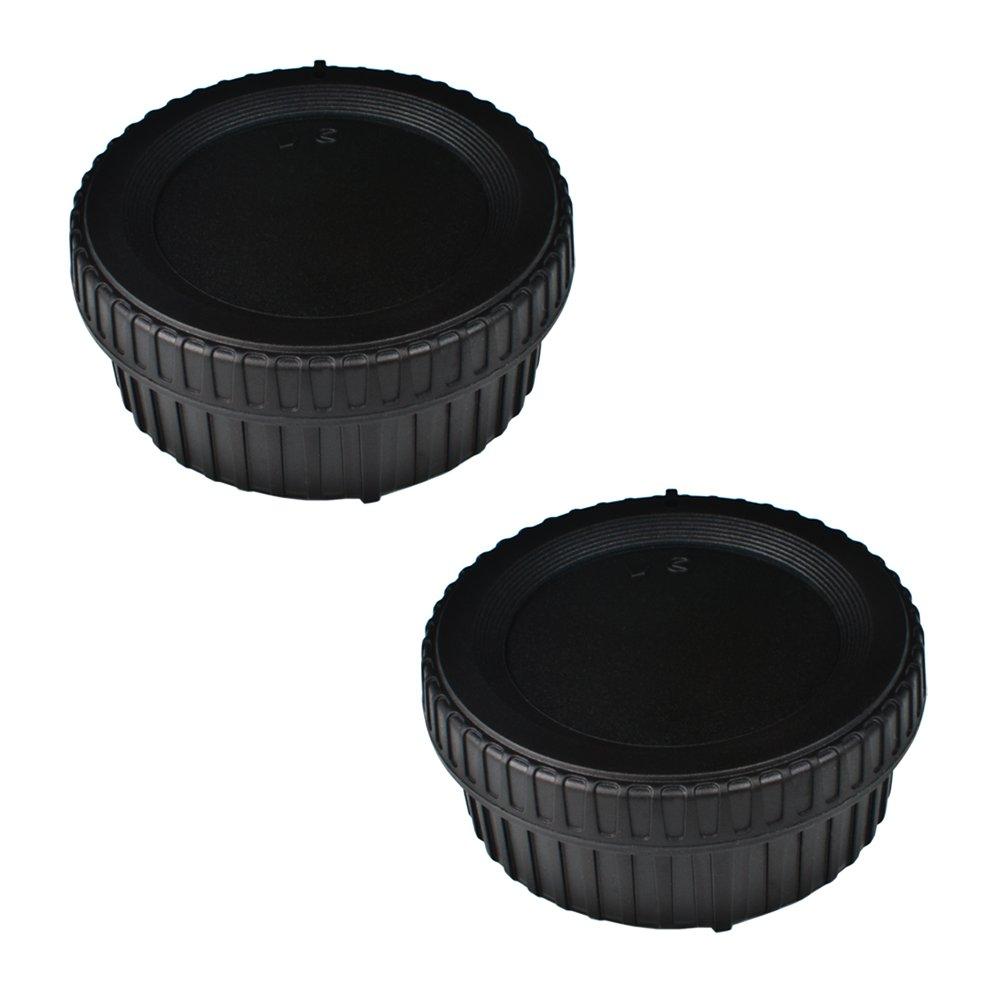 (2 Pack) Front Body Cap & Rear Lens Cap 60D 70D 77D 80D 7D 5D Mark II III IV 750D 760D Rebel T6 T6i T7i T6S SL1 T3 T3i T4i T5i T5 XS Camera Body & EF Lens Replaces RF-3 VKO VBL-CM