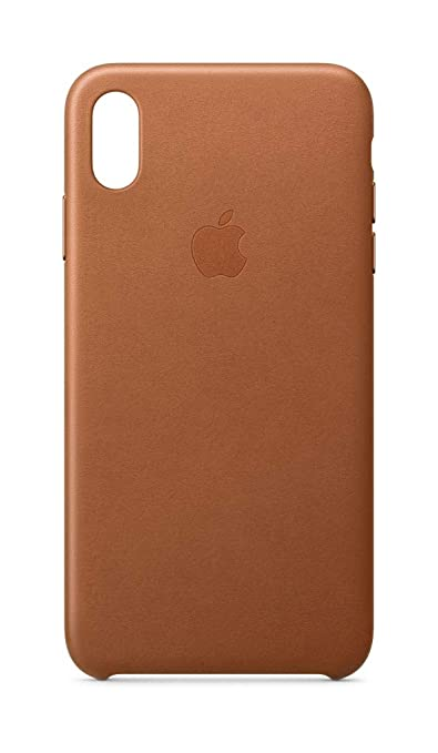 detailed look 92051 9b764 Apple Leather Case (for iPhone Xs Max) - Saddle Brown