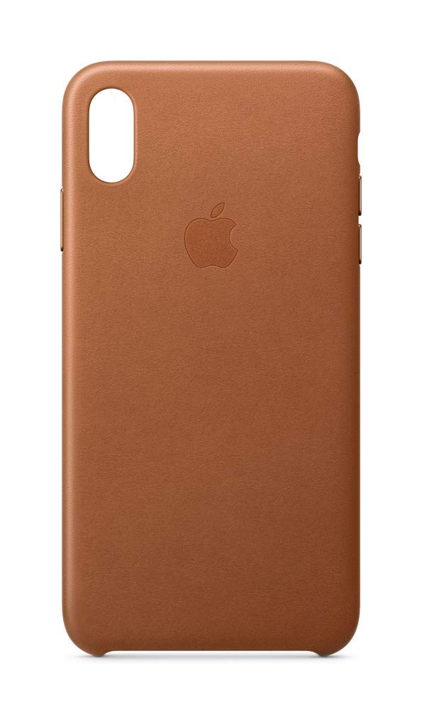 Apple Leather Case (for iPhone Xs Max) - Saddle Brown