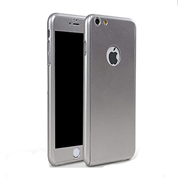 best loved b120e 2103d iPhone 6 Plus/6s Plus Full Body Hard Case-Aurora Silver Front and Back  Cover with Tempered Glass Screen Protector for iPhone 6 Plus/6s Plus 5.5  Inch
