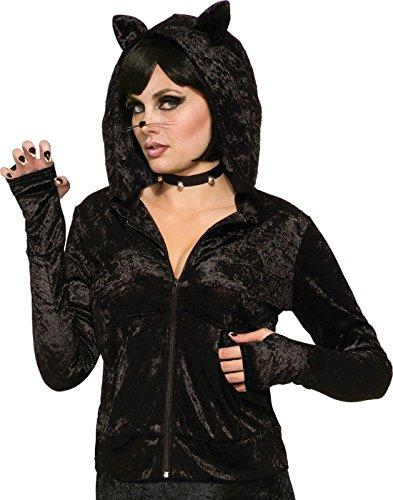 Forum Novelties, Black Cat Hoodie Zip Jacket Adult Size Costume