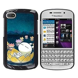 TopCaseStore / la caja del caucho duro de la cubierta de protección de la piel - Cute Floating - BlackBerry Q10