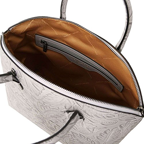 Tuscany Leather Tl141670 Borsa A Spalla Donna Grigio Compact
