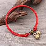 Black Retro Cute Toddler Foot Chain Anklet Ankle Bracelet Jewelry Ancient Sounds Valentine's Day red Rope Women Girls Fashion Model Pretty Suit Newborn