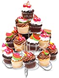 Cupcake Stand for Birthdays and Other Occasions 4 Tier Cupcake Holder for 23 Cupcakes and Desserts