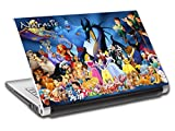 Disney Characters Personalized LAPTOP Skin Vinyl Decal Sticker WITH NAME L64 - 15.6'
