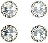 Horse jewelry magnetic contestant show number pins crystal Swarovski crystal set of 4