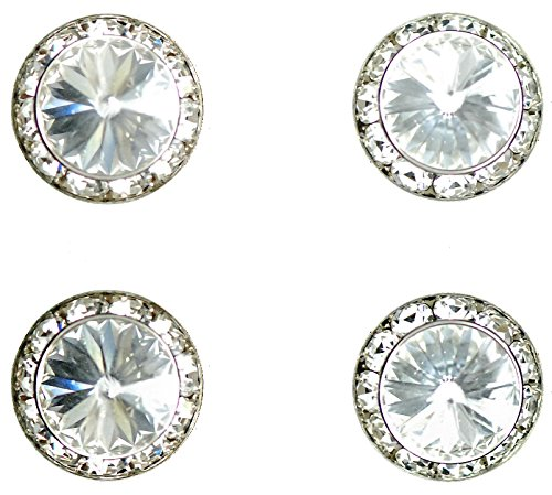 - Horse jewelry magnetic contestant show number pins crystal Swarovski crystal set of 4
