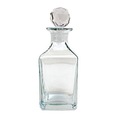 Indian Shelf Estante indio hecho a mano cristal transparente cuadrado forma botella de cristal tarro de