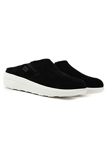 ef3285d14b8a FitFlop Loaff Clog - Black Perf Suede Womens Shoes 3 UK  Amazon.co ...
