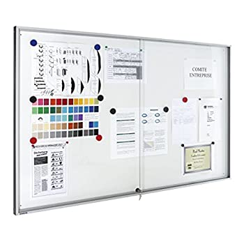 Image of Legamaster Premium Whiteboard 7 630942 Display Cabinet for Indoor Use 690 x 950 mm (9X Din A4) White Bulletin Boards