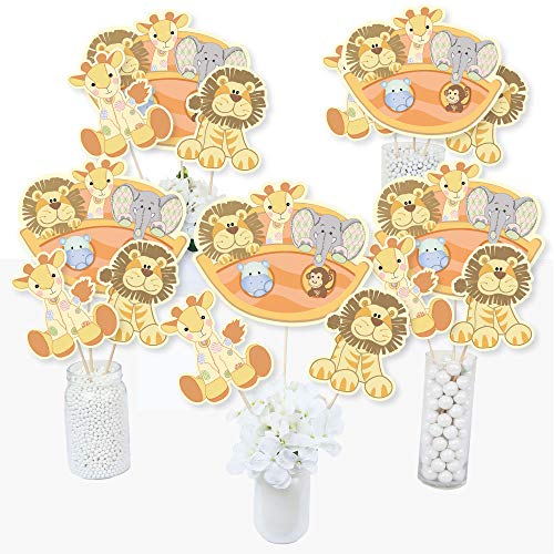 Noah's Ark - Baby Shower Centerpiece Sticks - Table Toppers - Set of 15 - Noahs Ark Centerpieces