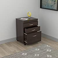 HomeRoots Three Drawer File - Melamine/Engineered wood