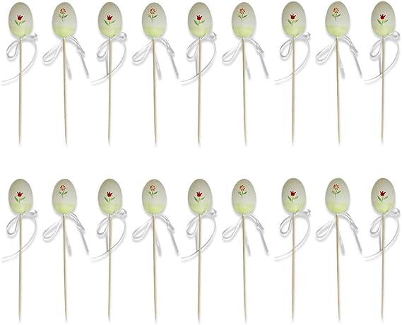 Set of 18 Picks Butterfly and Bee Plastic Easter Eggs on Sticks 10 Inches BestPysanky TT-998B-194C-set3