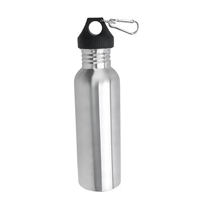 750 ml Bouteille d'eau à goulot large en Acier inoxydable avec Mousqueton pour Cyclisme Camping Sports
