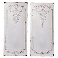 A&B Home Prasoon, Set of Two Wall Panel, Set of 2, White
