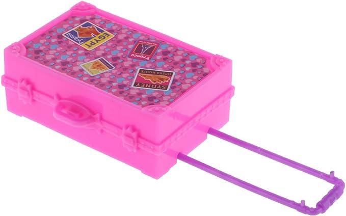 Amazon.es: Gazechimp Caja del Equipaje para Barbie Accesorios de ...