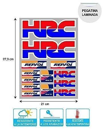 Aufkleber Aufkleber Aufkleber Aufkleber Aufkleber Autocollants Kompatibel Mit Hrc Repsol Honda Laminat Bogen 27 Cm X 20 Cm 13 Einheiten Ref1