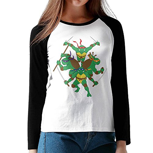 LOVEGIFTTO LADY Womens Cool Teenage Mutant Ninja Turtles O-Neck Long Sleeve Raglan Tee Shirt XX-Large (Teenage Mutant Ninja Turtles Of Rats And Men)